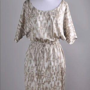 Ann Taylor crosshatch cinch kimono dress